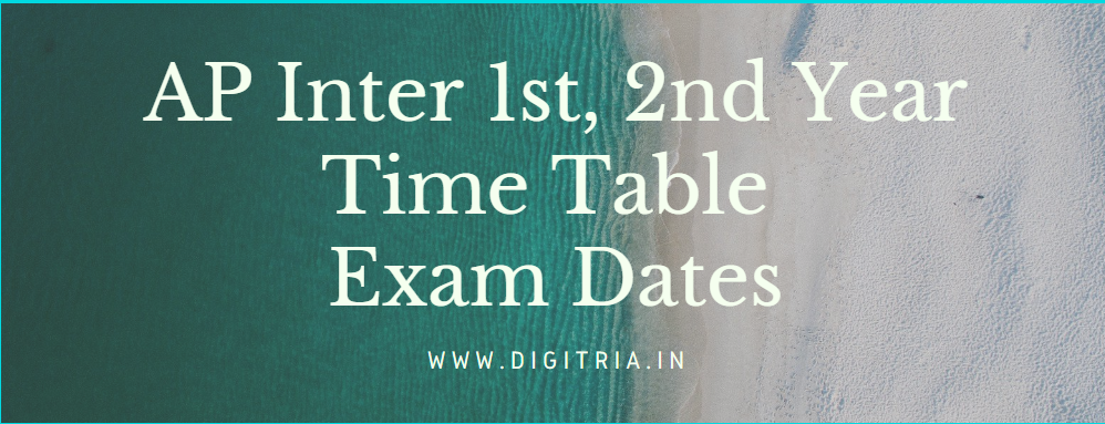 Manabadi BIEAP Inter 1st, 2nd Year Time Table