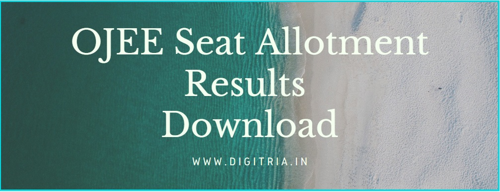 OJEE Seat Allotment Results 2020