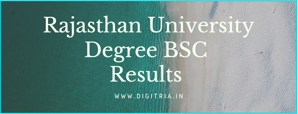 Rajasthan University Bsc Results 2020