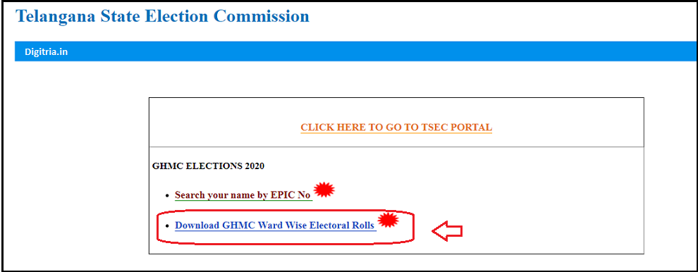 Download Ward-wise Electoral rolls
