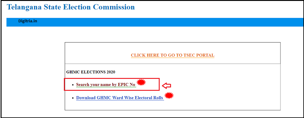 TS GHMC Elections Voter List & Search your name