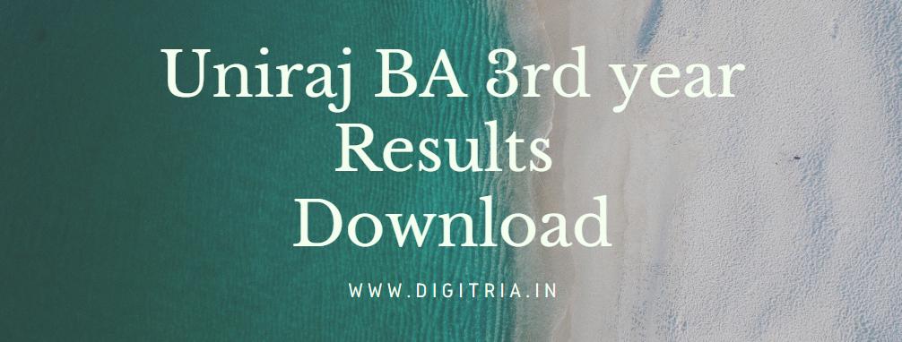 Uniraj BA 3rd year Results