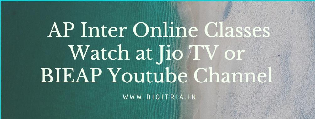 AP Inter Online Classes