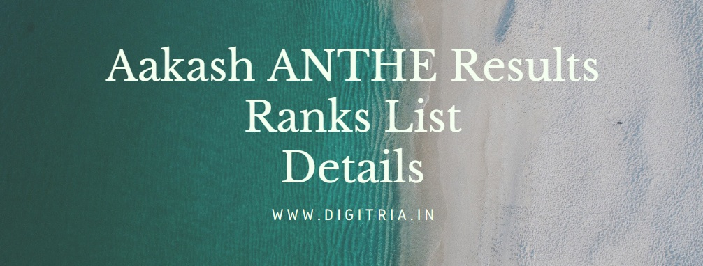 Aakash ANTHE Results