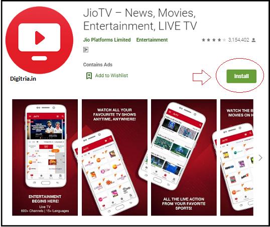 AP Inter Online Classes watch at JIO TV mobile app.