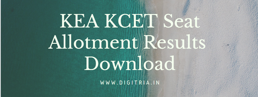 KCET First Round Seat Allotment Results