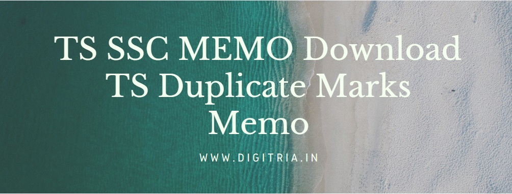 TS SSC Marks MEMO Download