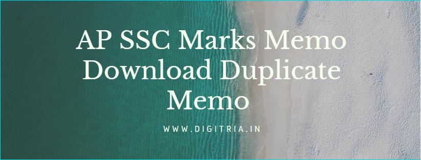 AP SSC Marks Memo Download