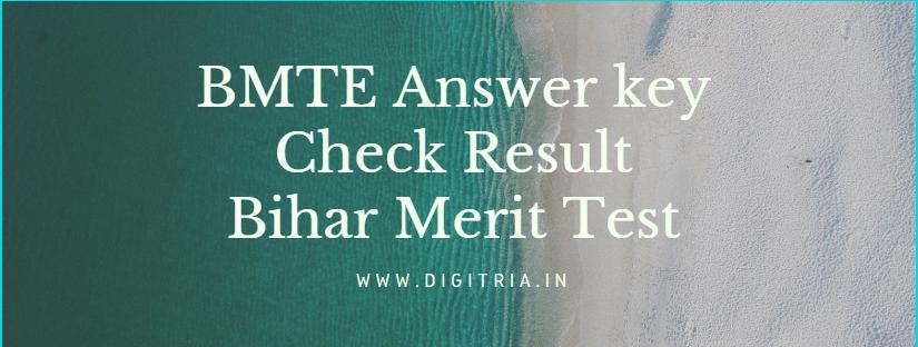 BMTE Answer key