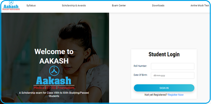 Login the Students Page