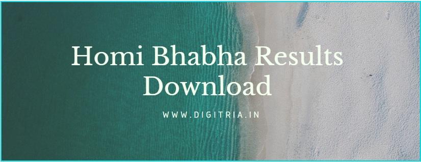Homi Bhabha Results