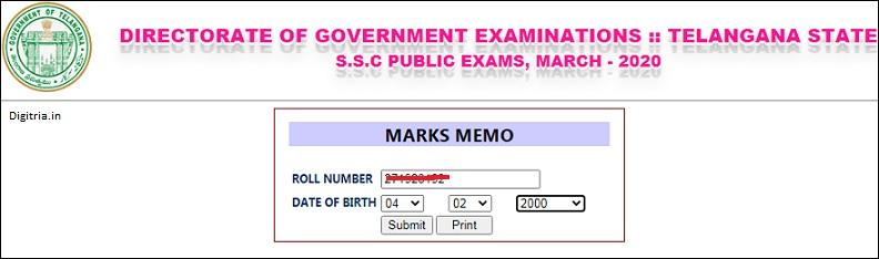SSC marks Memo