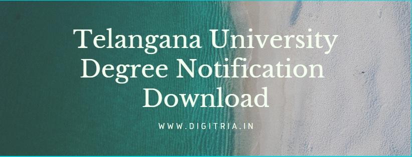 Telangana University Degree Notification