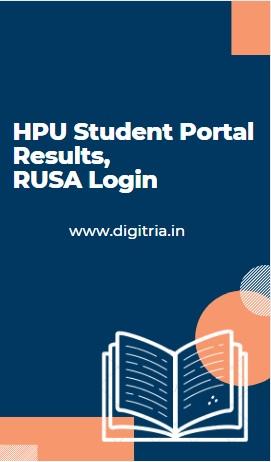 HPU Student Portal Results