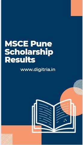 MSCE Pune Scholarship Results