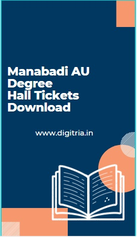 Manabadi AU Degree Hall Tickets
