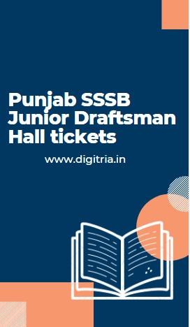 Punjab SSSB Junior Draftsman Hall ticket