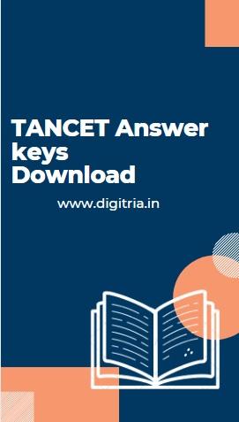 TANCET Answer key