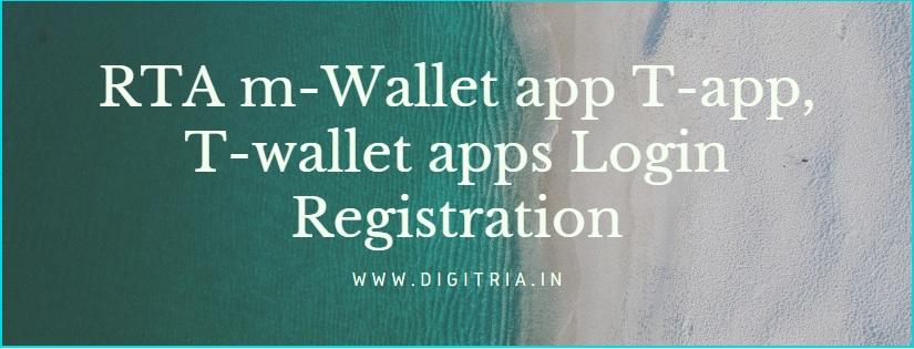 RTA m-Wallet app