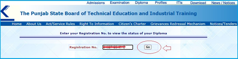 click on go option