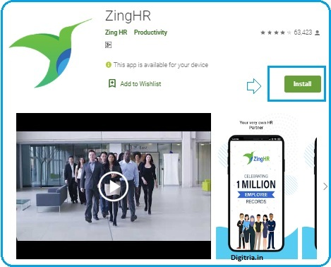 Zing hr android app