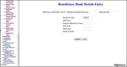 Benf bank account details