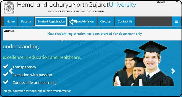 Click on Student registration