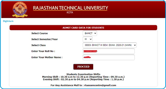 Download admit card here