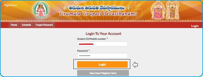 Enter login page