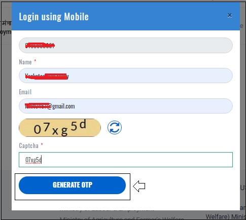 Enter mobile number and details