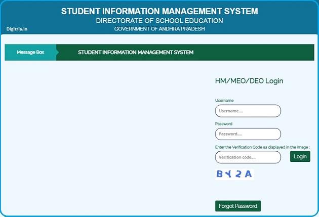 AP Student Info Login Page