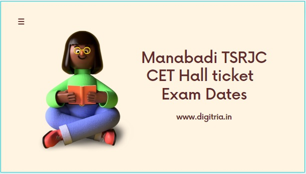 Manabadi TSRJC CET Hall ticket