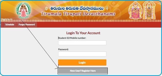 click on new register