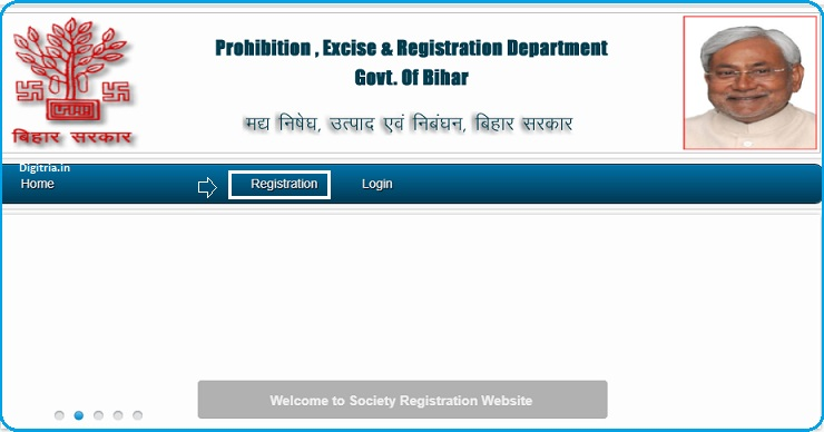 Click on the Registration link
