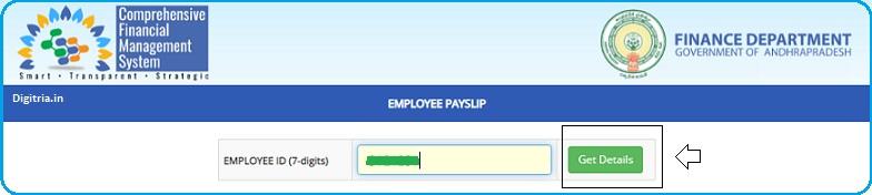 enter seven digits employee ID
