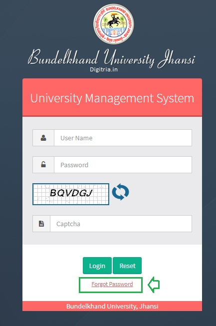 Forgot password of Faculty