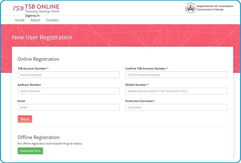 TSB Registration Form