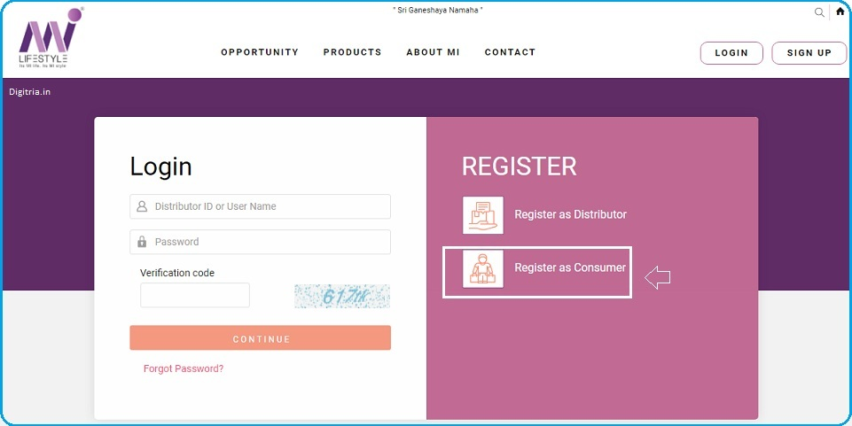Register as Customer