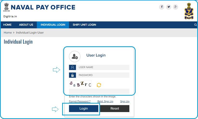 enter user name password