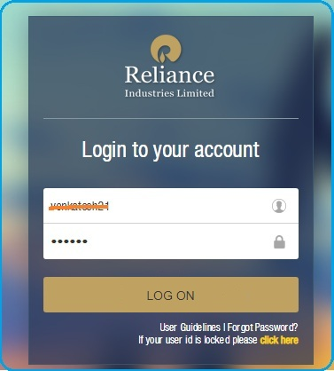 enter user id and password of ESS