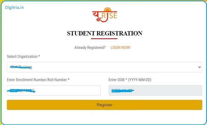 fill form of Student registration form