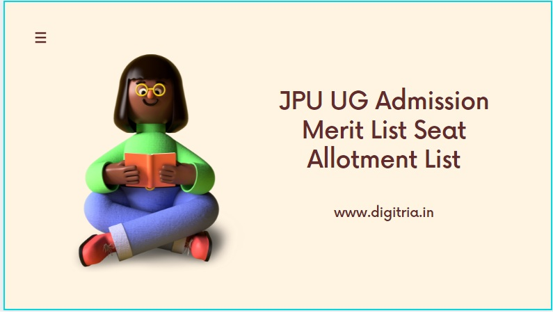JPU 1st 2nd Merit List